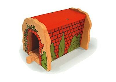 Bigjigs Toys - Red Brick Tunnel NEW * wooden train rail railway model building