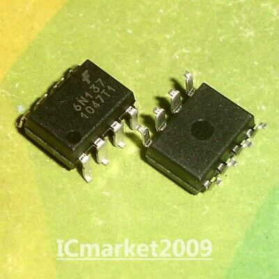 50 PCS 6N137 SMD-8 High Speed Optocoupler,10Mbd