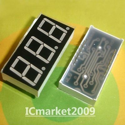 10 PCS 3 Digit 0.56 inch RED NUMERIC LED DISPLAY 7 SEG SEGMENT COMMON ANODE BIT