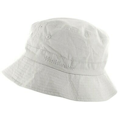 LADIES WHITE BUCKET SUN HAT all sizes 100% cotton pre washed summer cap hiking