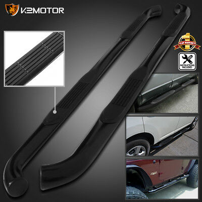 """For 05-19 Toyota Tacoma 3"""" Double Cab Black S/S Side Step Nerf Bar Running Board"""