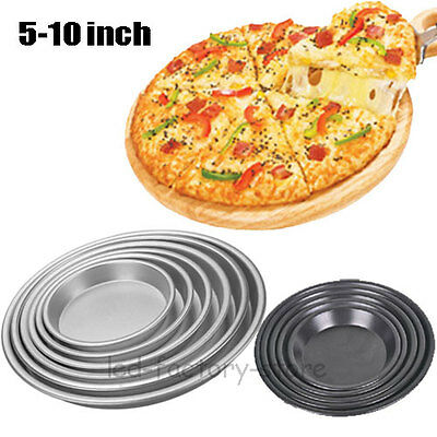 5-10 Inch Non Stick Round Pizza Pan Cake Baking  Mould Baking Tray Tin Tools #T
