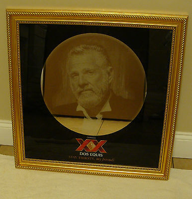 "CERVEZA DOS EQUIS XX 26"" X 26"" HOLOGRAM BAR MIRROR NEW STAY THIRSTY MY FRIENDS"
