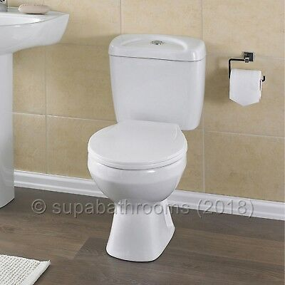Melbourne Ceramic Close Coupled WC Toilet Pan, Cistern & Seat