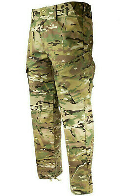 MENS RIP STOP COTTON HUNTERS TROUSERS Gents tree camo stealth hunting combats