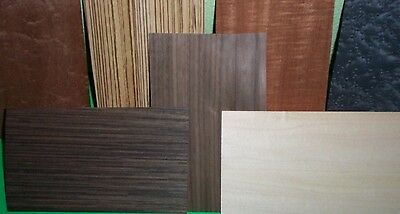 "Random lot of 50-65 pc.mixed wood veneer 5""x8"" ( exotic & common )"