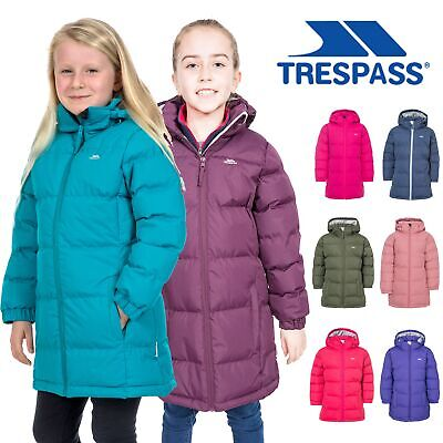 e4022fcd4 TRESPASS TIFFY GIRLS Winter Coat Padded Casual Longer Length & Insulated  Jacket