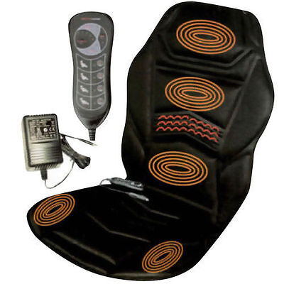 Remote Control Heated Back Seat Massage Chair for Car/Home or Van Relax Cushion