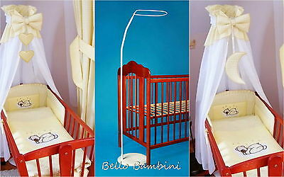 CANOPY drape for baby swinging crib/wicker basket/craddle+FLOOR STANDING POLE