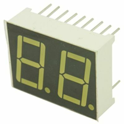 14.2mm 0.56in Dual 7 Segment LED Display Yellow Com And