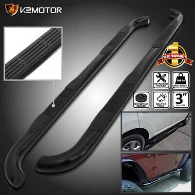 Black Side Step Nerf Bar Running Boards For 2004-2015 Nissan Titan King Ext Cab