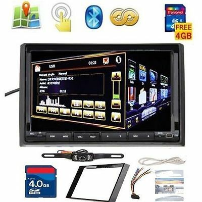 "GPS Satellite Radio TV BT Car Stereo DVD Player Double 2Din 7"" HD+Rear Camera TP"