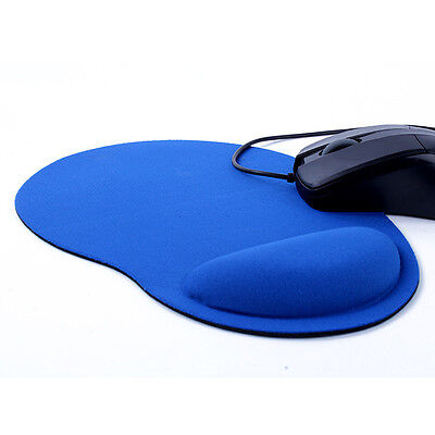 Thin Blue Mouse Pad For Optical/Trackball Mouse Wrist Comfort Mat Mice Pad New
