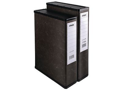 10 Black Box File / Files Foolscap / A4  'new' Free 24H Courier
