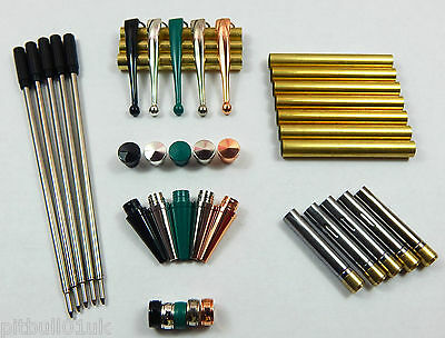 Woodturning Fancy Slimline Mixed Pen Kit Sets x 5 - Set No: 2 ** FREE POSTAGE **