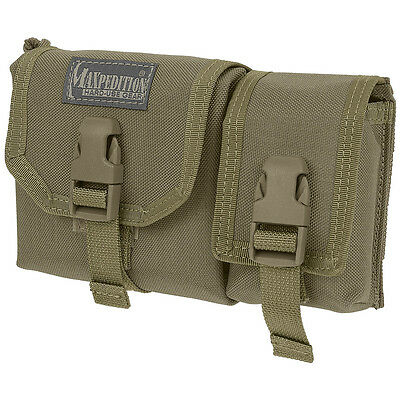 Maxpedition Military Tear Away Waterproof Map Case & Gps Army Molle Pouch Khaki