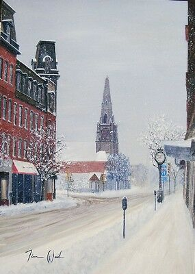 """Brattleboro Vermont signed and numbered art print /""""Hours and years later/"""""""