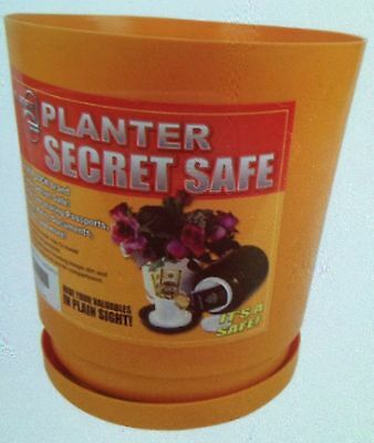 Indoor Outdoor FLOWER POT Diversion Safe Hidden Home Security Secret Cash Stash