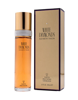 White Diamonds by Elizabeth Taylor 3.3 / 3.4 oz EDT Perfume for Women New In Box