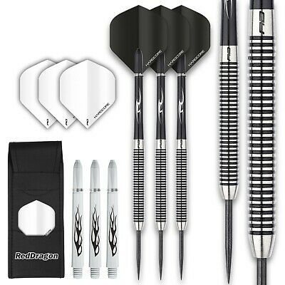 PEGASUS TUNGSTEN DARTS SET - Red Dragon Shafts, Flights, Case, 19-30 gram