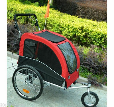 PawHut Bike Trailer Foldable Pet Dog Stroller Jogger Large Bicycle 3-Wheel