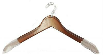 10 Cherry Wood Hangers Wooden Hanger Top Shirt Coat 17 ""