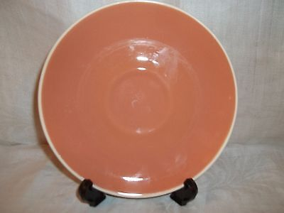 """Harkerware Apricot or terra cotta color saucer 6.25"""" ivory back EXCELLENT cond"""