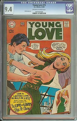 Young Love #72 Cgc 9.4 Ow/wh Pages // Win Mortimer Art // Dc Romance