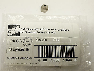 3M Scotch-Weld Hot Melt Applicator Standard Nozzle Tip .093 - Brand New