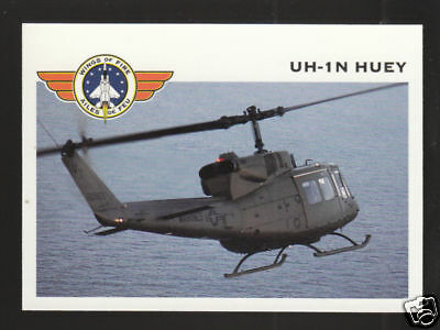 BELL UH-1N HUEY TROOP HELICOPTER Wings Of Fire TRADING CARD