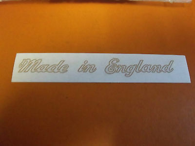 Triumph T140 Bonneville Tr7 T160 T150 60-3361 Gold Frame 'made In England' Decal