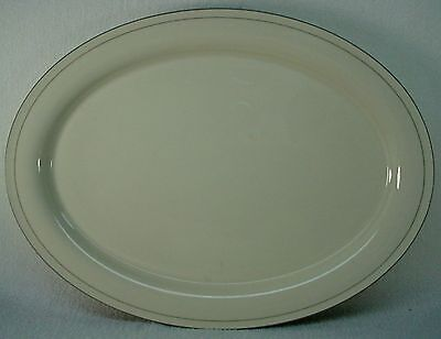 LENOX CHINA FOR THE GREY PATTERNS Chinastone OVAL MEAT Serving Unique Lenox China Patterns