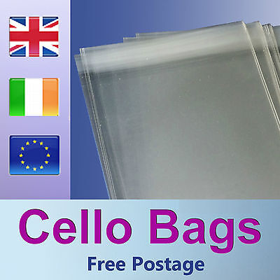 50 C6 Cello Bags for A6 Greeting Cards / Clear / Cellophane Peel & Seal Bags