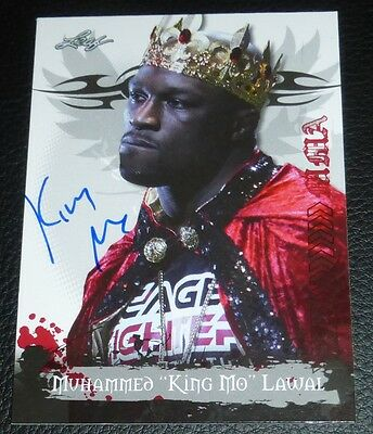 King Mo Muhammed Lawal Signed 2010 Leaf MMA Card #22 Auto'd StrikeForce Bellator