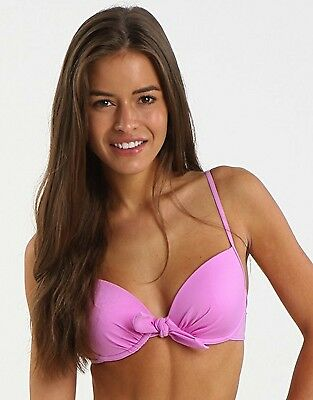 Lepel Swimwear Padded Push Up Bow Bikini Top 1356600 Lilac/PINK 32A-38B
