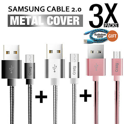 Micro USB data charger cable for Samsung Galaxy S7 Edge S6 S5 S4 HTC LG