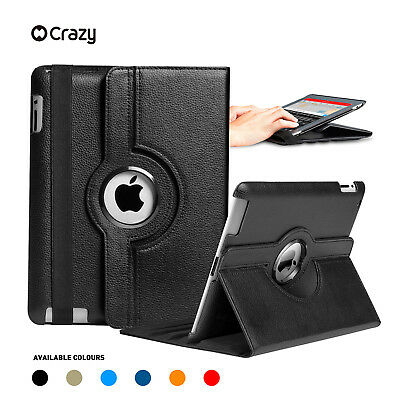 360 Leather Smart Case Cover for Apple iPad 5 4 3 2, iPad mini iPad Air iPad Pro