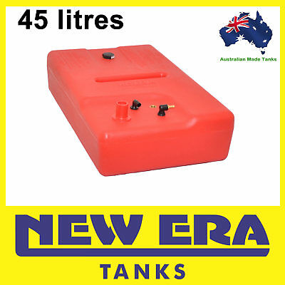 45 litre - Boat petrol fuel tank -  38mm straight inlet - Australian Made