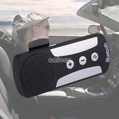 Wireless Bluetooth 3.0 Handsfree Speakerphone Car Kit For Mobile Phone iPhone