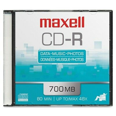 MAXELL CDR700 700MB Blank Recordable CD (Package of 1) 648201