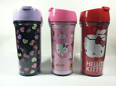 Sanrio Hello Kitty Cold/Hot Drink Travel Mug Red Or Pink Or Purple 17 fl oz size