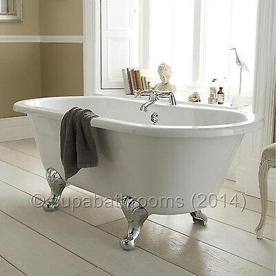 Grosvenor Freestanding Traditional Double Ended Roll Top Acrylic Bath