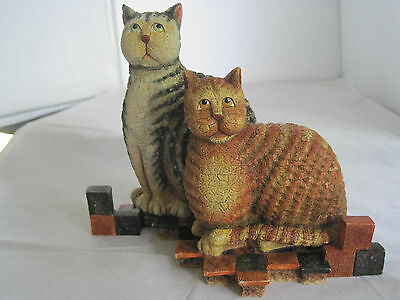 KRIEBEL PATIENCE AND PRUDENCE CAT FIGURINE - 1999 FIRST EDITION