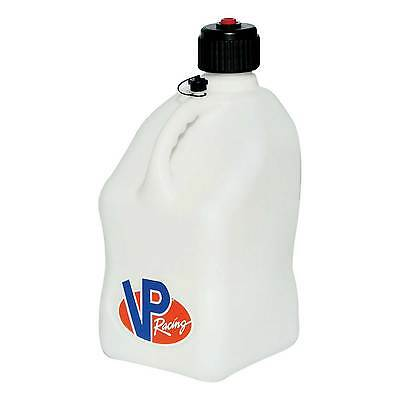 VP Racing 20 Litre Square Design Race/Rally Fuel Dump Churn/Jug/Container -White