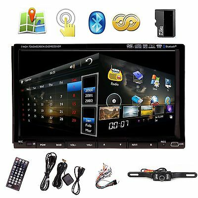 "7"" In Dash Double 2 Din Car Stereo DVD Player GPS Navigation 3D Bluetooth TV YQ"