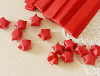 red  with shine mini stars - Origami Lucky Star Paper - only a few pks left