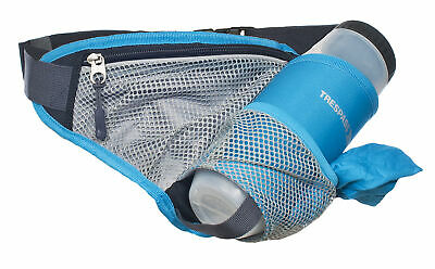 Trespass Wadi Unisex Blue Hikers Adjustable Bumbag with Sports Water Bottle