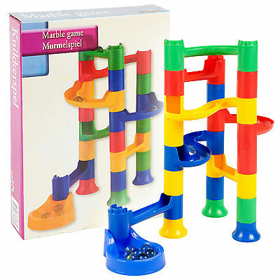 Kids Marble Run Race Construction Kit Childrens Toy Creative Building Game Sets