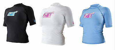 Body Glove Ladies Short Sleeve Wetsuit Rash Vest - Black, Blue or White