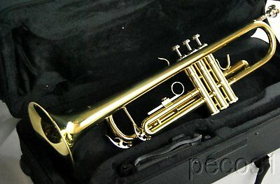 Bb MARCHING OR CONCERT TRUMPET-NEW GOLDEN PRO BRASS BAND TRUMPETS